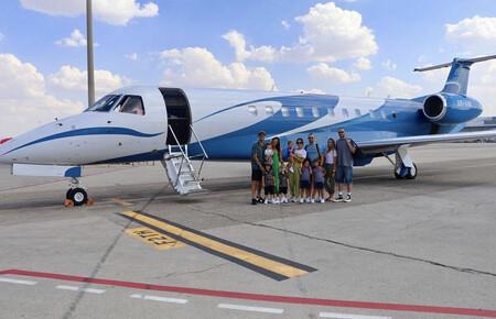 El avión de Sergio Ramos