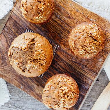 Muffins de chocolate y café. Receta fácil para el desayuno, cena o postre