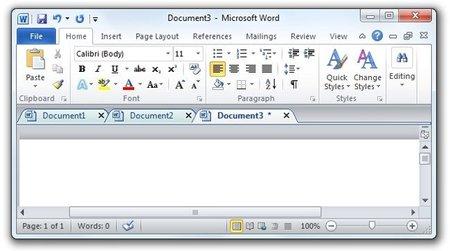 Utilizar pestañas para la edición de documentos
