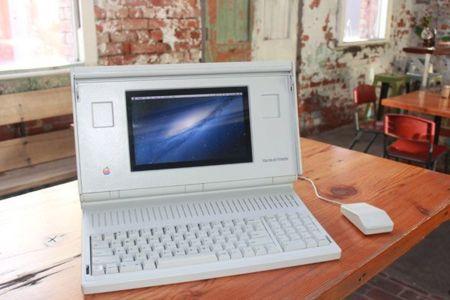 Un Macintosh Portable ejecutando Mountain Lion