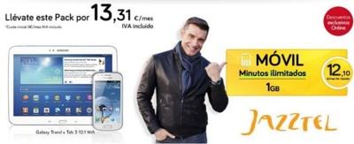 Otro pack Galaxy Tab 3 10 + Galaxy Trend entra a formar parte de Jazztel