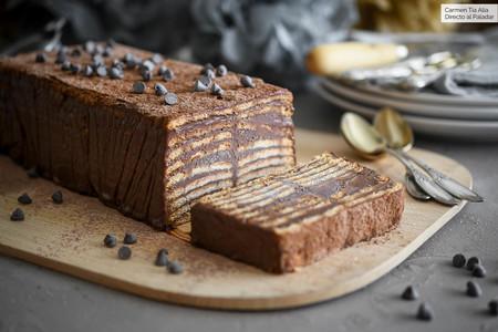 tarta fácil de chocolate y café sin horno