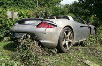 Hamilton padre destroza un Porsche Carrera GT por fliparse