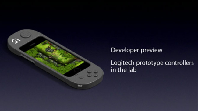 Prototipo de mando para videojuegos Made for iPhone de Logitech