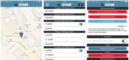 Tuture: que saber donde hayas aparcado no implique hacer absolutamente nada en tu iPhone