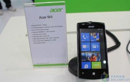 Acer se apunta a Windows Phone 7 con el Acer W4