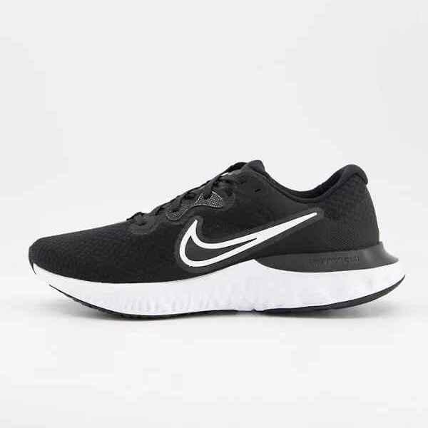 Zapatillas de deporte negras y blancas Renew Run 2 de Nike Running