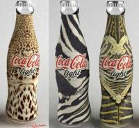 Roberto Cavalli diseña una botella de Coca-Cola