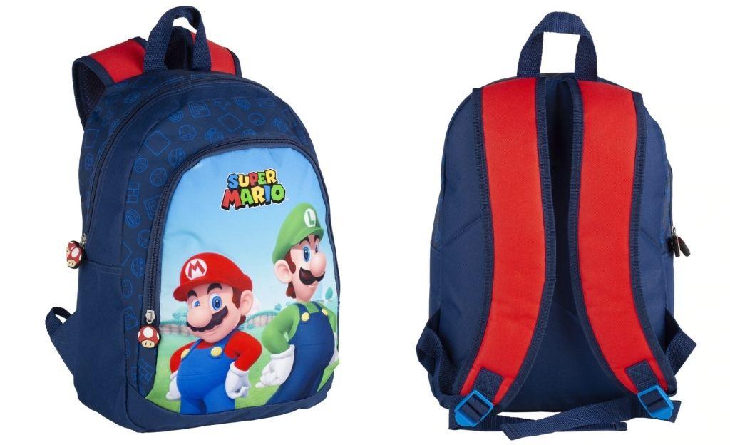 Mochila Primaria Super Mario Y Luichi Toybags Multicolor