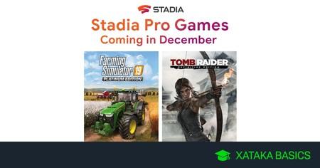 Juegos gratis de Stadia en diciembre 2019 para Stadia Pro