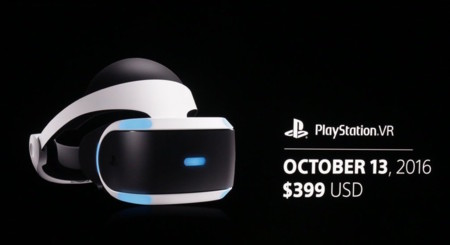PS VR llegará al mercado el 13 de octubre por 399 dólares