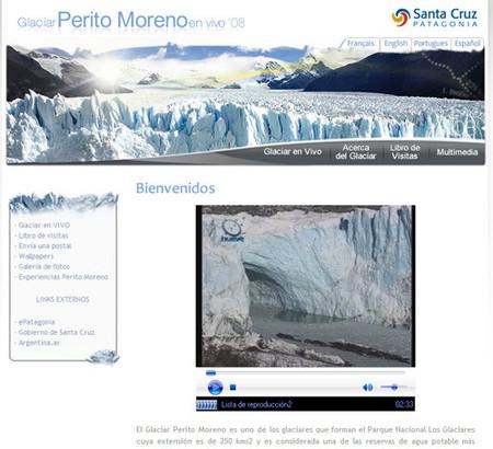 El Glaciar Perito Moreno se rompe en pleno invierno (en vivo)