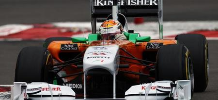 Adrian Sutil y Jules Bianchi se juegan el Force India en pista