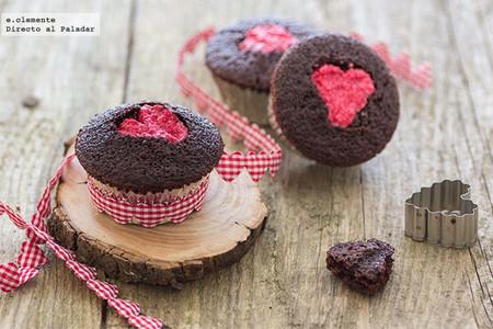 Cupcakes de cacao con corazón: receta fácil para quedar bien en San Valentín