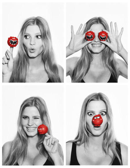 Helena Christensen Lara Stone Red Nose Day
