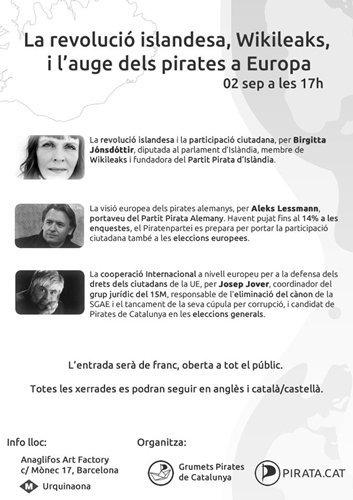 Cumbre de partidos piratas europeos en Barcelona (1 y 2 de septiembre)