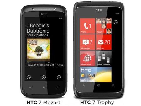 HTC 7 Mozart y 7 Trophy, el 21 de octubre con Orange y Vodafone respectivamente
