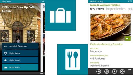 Las aplicaciones de viajes y recetas de Bing ya disponibles para Windows Phone en versión beta
