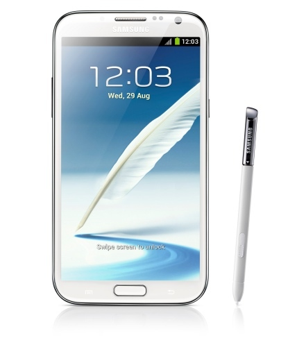 Samsung Galaxy Note II de frente