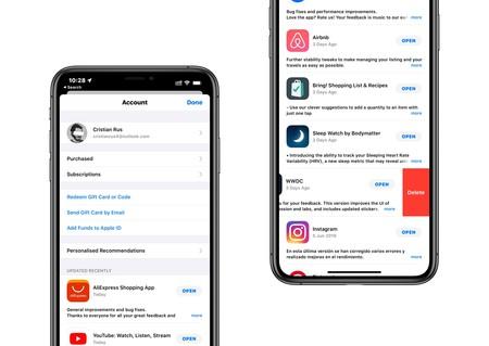 La App Store en iOS 13 permite eliminar apps más fácilmente desde la sección de actualizaciones