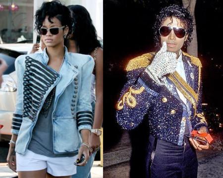 Rihanna sigue loquita por Balmain y se ha convertido en Micheal Jackson