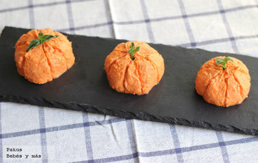Recetas de Halloween: calabacitas de queso y sobrasada