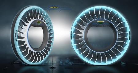 Los fabricantes de neumáticos ya piensan en coches voladores: así es la rueda diseñada para conducir en tierra y actuar a la vez como hélice
