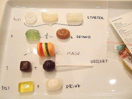 Plato de chucherías en Restaurante Candy