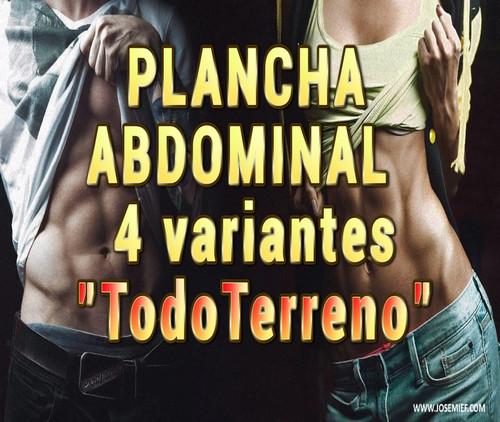 4 Planchas abdominales en la playa o en casa