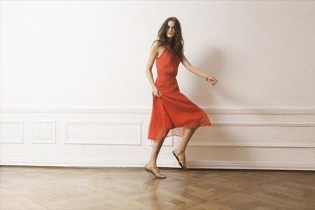 Massimo Dutti vestido rojo