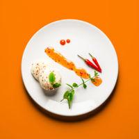 Helado con salsa de chile