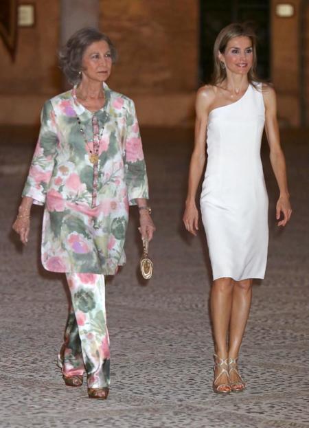 La reina Letizia y la Reina Sofía en Mallorca