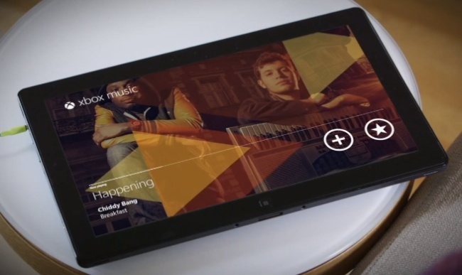 Surface con Xbox Music