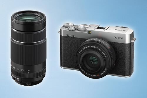"""Fujifilm X-E4, Fujinon XF 27mm F2.8 R WR y XF 70-300mm F4-5.6 R LM OIS WR, nueva cámara """"callejera"""" y objetivos para la Serie X de mirrorless APS-C"""