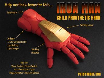 Prótesis futuristas para niños, inspiradas en Iron Man