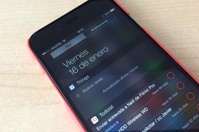 Things añade por fin su widget al Centro de notificaciones de iOS