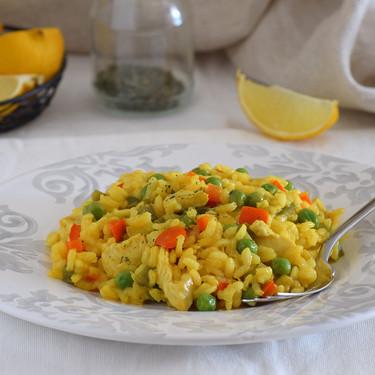 Receta de arroz con pollo fácil y rápida (que triunfa con los niños)