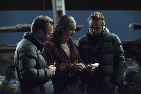 Orlando Bloom con los directores