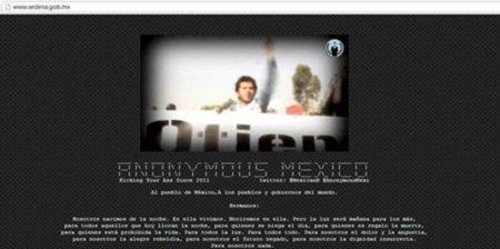 """Anonymous """"golpea"""" al Ejército de México"""