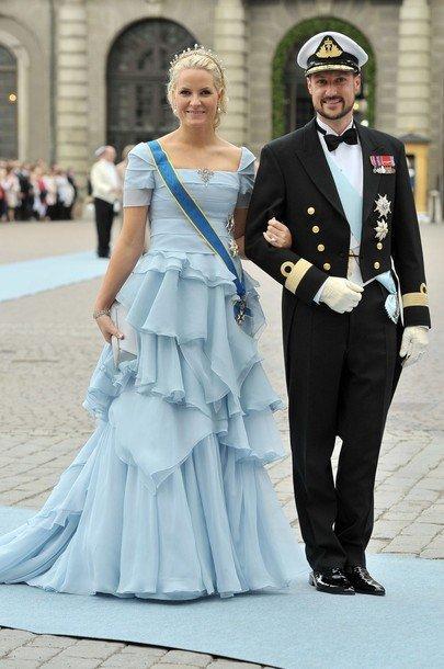 Boda de la Princesa Victoria de Suecia, ceremonia: Princesa Mette-Marit