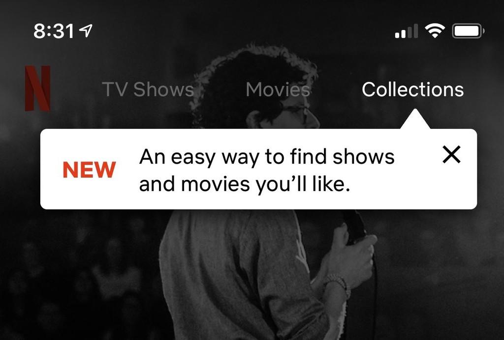 Netflix comienza a probar en iOS℗ las 'Colecciones': listas hechas por personas
