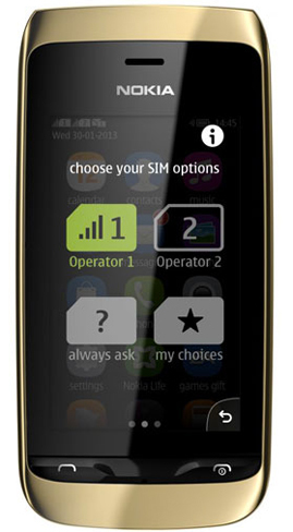 Nokia Asha 310  toda la informaci  243 nNokia Asha 310 Gold
