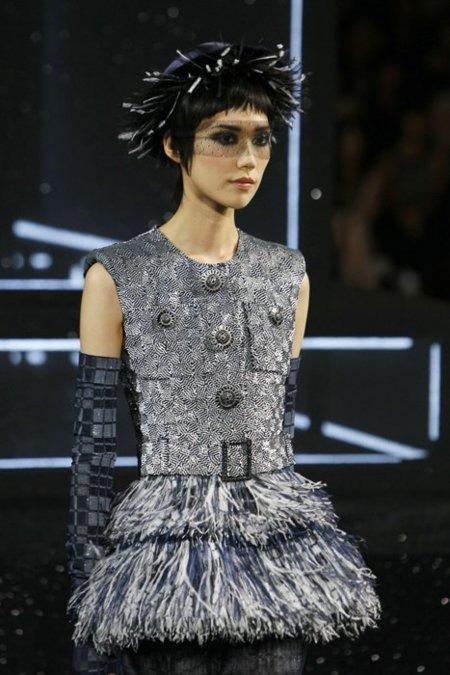 Chanel Alta Costura flecos