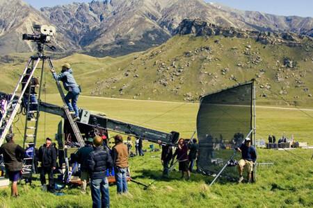 Rodaje de El Señor de los Anillos en las montañas de Nueva Zelanda.
