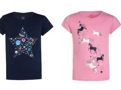 4 camisetas Gap para niño y niña por sólo 4,45 euros con envío gratis en Zalando