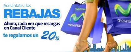 Movistar: 20% más gratis al recargar online