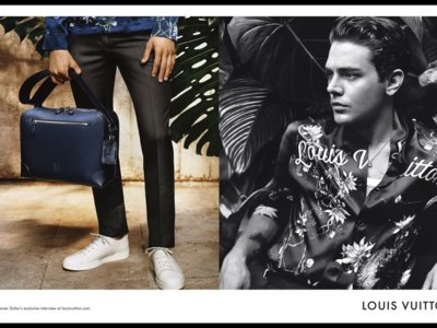 Xavier Dolan hace doblete posando, una vez más, para la línea Ombré de Louis Vuitton