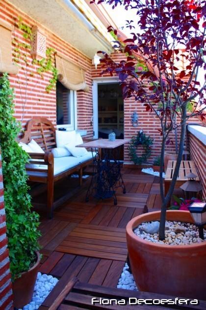 Diario de a bordo instalamos suelo de madera en la terraza for Simulador decoracion