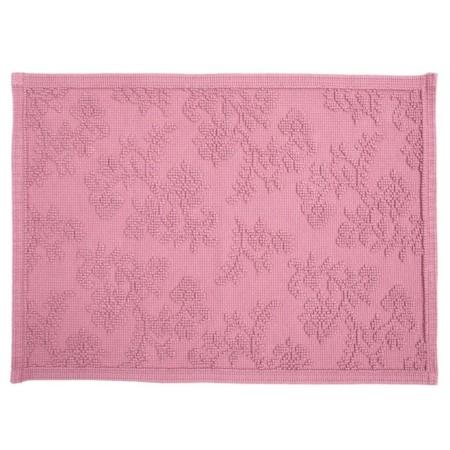 alfombra baño zara home rosa