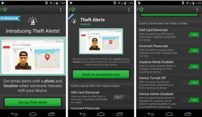 Lookout se actualiza, añade alertas de robo para usuarios premium